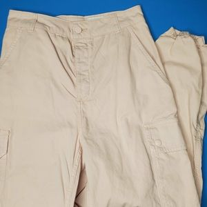 Pink top shop cargo pants